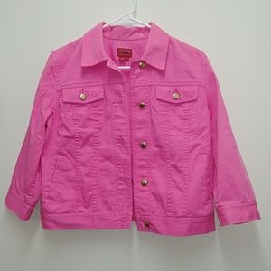 Chaps Pink Denim Jacket